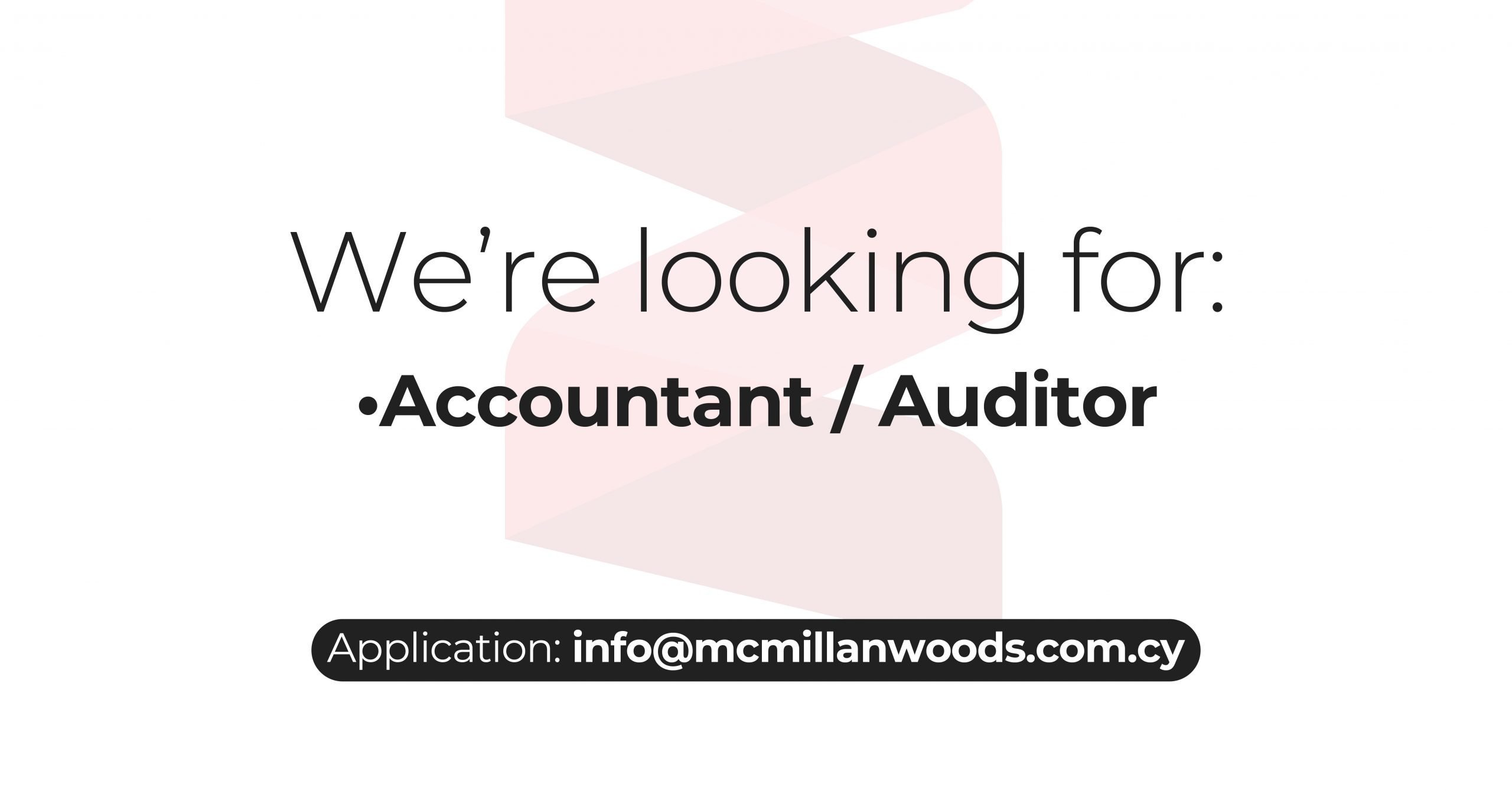 New Job Accountant - Auditor